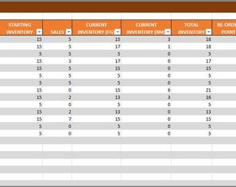 Einzelhandel-Inventar und Verkaufsleiter Excel-Vorlage