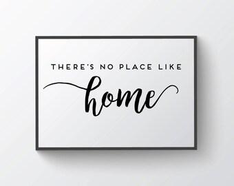 Printable Wall Art - No Place Like Home digital print