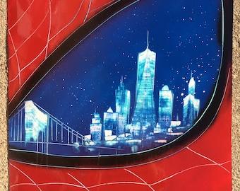 Spiderman City - Spray Paint Art
