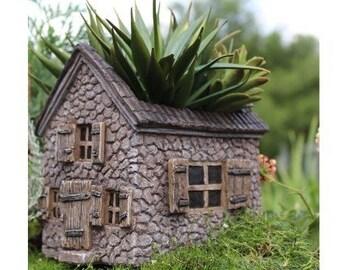 My Fairy Gardens  Mini - Mill House Planter - Miniature Supplies Accessories Dollhouse