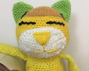 Sleeping Cat - Crochet Stuffed Animal