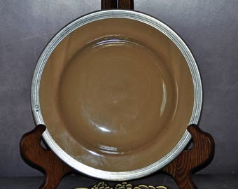 ARTE ITALICA TUSCAN Pasta Soup Bowl Ceramic Pewter Vintage made in Italy
