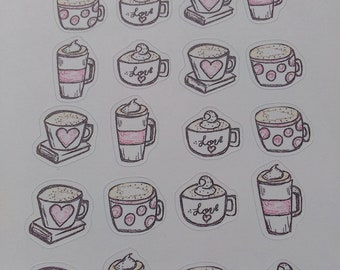 Lots of love Coffee stickers