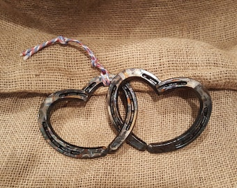 Horseshoe Hearts Wall Hanging  Made in Montana