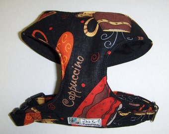 Comfort Soft Harness for Small Dog. Cappuccino - Made to Order -