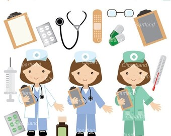 ON SALE INSTANT Download.  Doctor, nurse clip art. Cd_8_doctor. Personal and commercial use.