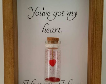 Wife gift, Gift for wife, Romantic gifts for her, Anniversary, Birthday, Christmas gift. Can be personalised with names or your own message.