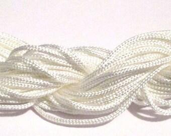 Braided nylon thread white 2mm 12mm skeins