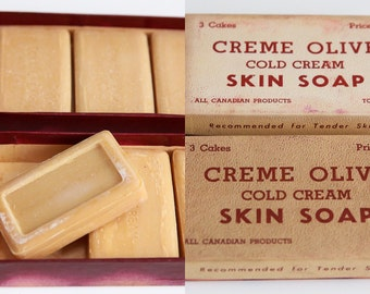 Original, 2 Boxes, Creme Olive Cold Cream Soap -Toronto