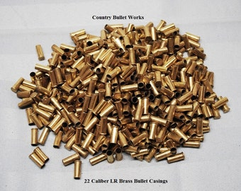 22 Caliber Pistol / Rifle Brass Bullet Casings - Lots 25 or 50 - Perfect For All Kinds Of Crafting