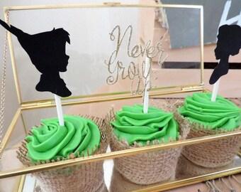 Neverland,peter Pan Cupcake Toppers,neverland Birthday, Peter Pan Birthday,peter  Pan