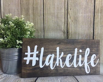 Lakelife Wood Sign | #lakelife | Cabin Decor | Lake House Decor | Lake | Lake Decor | Rustic Decor | Wood Lake Sign | Wood Sign