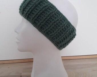Soft blue/green crochet headband/earwarmer
