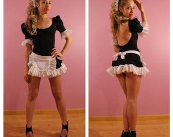 Stunning hand made Hot Pink French Maids Uniform - NOT a fancy dress costume URFeC9TXq