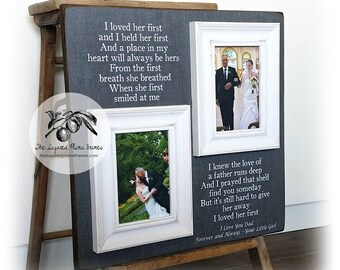 Father of the Bride Presents, Daughter to Father Gift, Father of the Bride Frame, I Loved Her First, 16x16 The Sugared Plums Frames