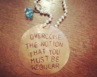 Handstamped Copper Necklace