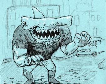 Street Shark post-it