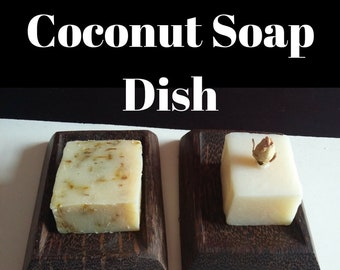 Coconut Wood Soap Dish, Soap Dish, Coconut Dish, Eco Friendly, Vegan Soap, Vegan Gift, Gift For Him, Gift For Her, Bathroom Accessory