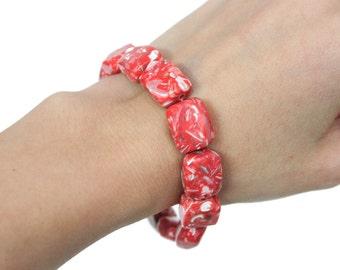 SALE Retro Meat Looking Beaded Bracelet