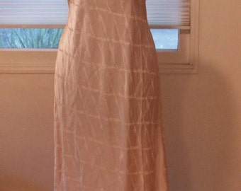 1930's silk nightgown with lace top