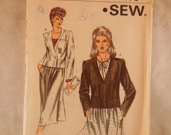 Vintage 1983 Kwik sew pattern for a size 6 - 12 jacket.