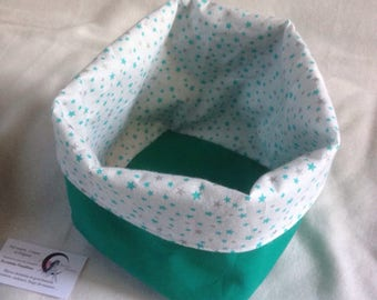 Fabric basket square large format for various storage