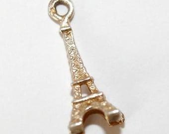 Vintage Eiffel Tower Paris 800 Silver Bracelet Charm / France Souvenir
