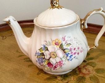 Sadler Vintage Bone China Teapot, Sadler England, James Sadler Teapot