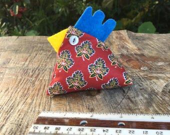Chicken Pin Cushion, Paperweight, Bean Bag