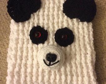 Panda hand crochet tea cosy