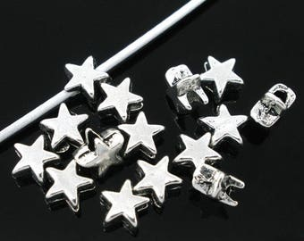 Set of 10 spacer beads 6x6mm star