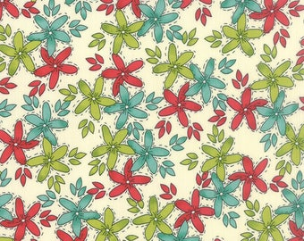 Moda Hometown Girls Prints 43060-11-- 1/3 yard remnant