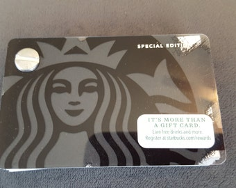 Starbucks Upcycled Refillable Giftcard Notebook - 2014 Special Edition Mermaid Siren Black