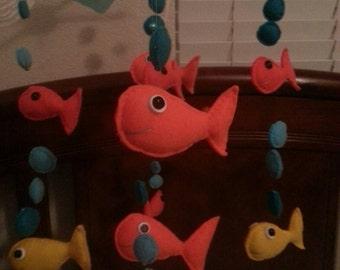Fish crib mobile