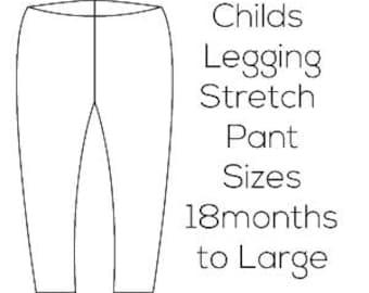 Porcelynne Child Legging Stretch Pant Download - 18 months to Large