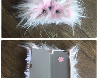 Pink Furry Monster Phone Case Cover