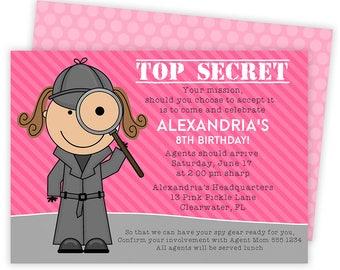Spy Invitation, Spy Party, Spy Party Invitation , Spy Invites, Detective Invitation, Secret Agent Party, Spy Birthday, Detective Party   13