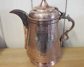 Persian copper coffee pot