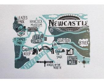 Newcastle Screen Print