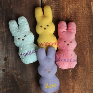 Easter Dog Toy Bunny Peeps Personalized Stuffed Squeaky Toy