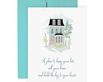 New Home - Greeting Card, Fashion Illustration, Moving Card, Fashion Card, New Home Card
