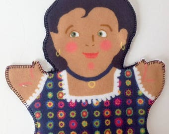 Saucy SALLY HEMINGS puppet for Children's History