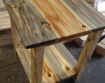 Beetle Kill End Table, Side Table