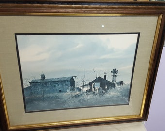 Summer Evening, Framed Lithograph by Frank M. Hamilton