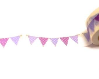 Purple and Lavender Bunting Washi Tape, Washi Tape, Planner Washi Tape, Scrapbooking