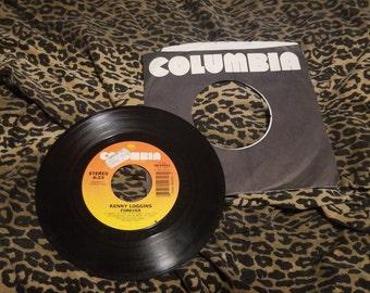 Kenny Loggins Forever / At Last 45 RPM record ** vtg 1980s