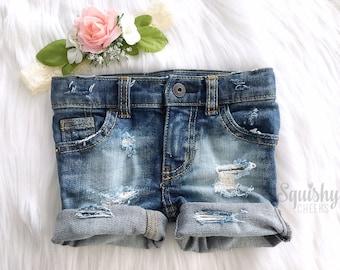 Girls Distressed Denim Shorts, Baby Girl Shorts, Jean Shorts, Toddler Girl Shorts, Ripped Shorts Trendy Girls Shorts, Sized Newborn-5T