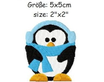 Embroidery Design Penguin 1 2'x2' - DIGITAL DOWNLOAD PRODUCT