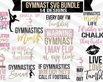 Gymnastics SVG, Gymnastics SVG Bundle, SVG Bundles, Gymnast Cut File, For Silhouette, Cricut, Gymnastics Quotes, Cut Files, Svg File