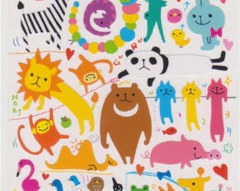 Yuru Animal Stickers - Japanese Stickers - Mind Wave Stickers - Reference A4126A5642S5728-29U5737